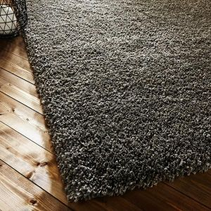 Athena Taupe Plain Rug By Flair Rugs
