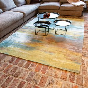 Atlantic Monetti 9118 Nenuphar Bronze Flatweave Rug by Louis De Poortere