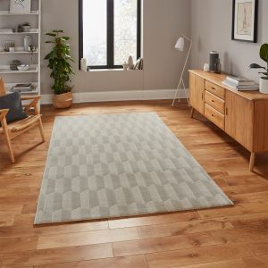 Aurora 54207 Beige Geometric Rug by Think Rugs