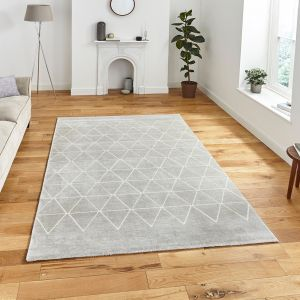 Aurora 54238 Grey Geometric Rug by Think Rugs
