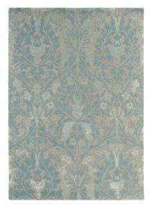 Autumn Flowers 27508 Eggshell Hand Tufted Wool Rug by Morris & CO.