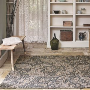 Bachelors Button 28205 Charcoal Hand Tufted wool Rug by Morris & CO.