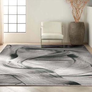 Balian CK53 Grey Black Rug by Calvin Klein