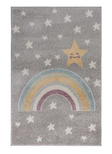 Bambino Rainbow Night Grey Multi Kids Rug by Flair Rugs