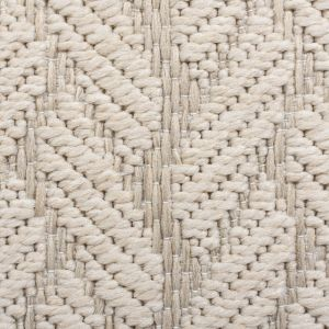 Basento Cable Natural Flateweave Rug by Flair Rugs