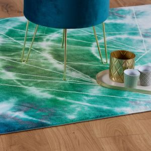 Batik BAT 155 Ocean Abstract Rug by Unique Rugs