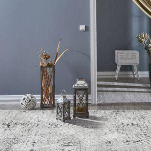 Bazaro BAZ01 Natural Grey Abstract Rug by Concept Looms