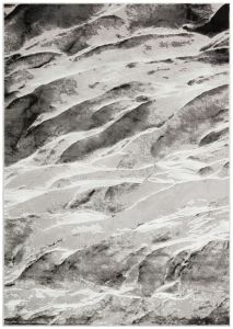 Blaze BLZ06 Silver Grey Abstract Rug by Concept Looms