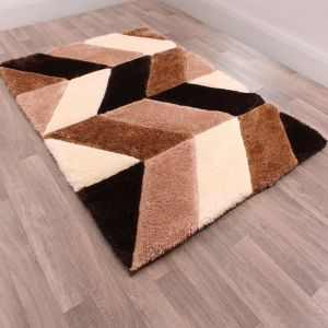 Blazon Natural 3D Shaggy Rug by Ultimate Rug