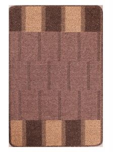 Blocks Beige Washable Mat by Rug Style