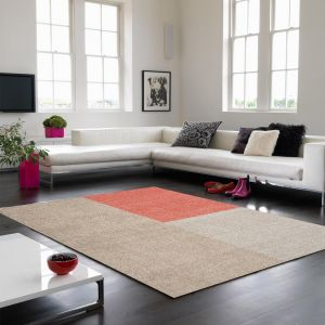 Blox Coral Geometric Rug By Asiatic