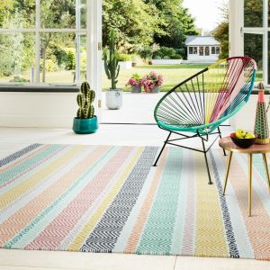 Boardwalk Pastel Multi Rug by Asiatic