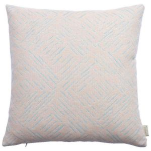 Breeze Sky Abstract Cushion by Claire Gaudion
