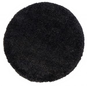 Brilliance Sparks Black Circle Rug by Flair Rugs