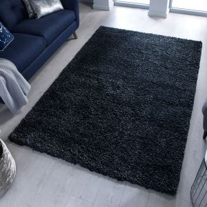 Brilliance Sparks Black Rug by Flair Rugs
