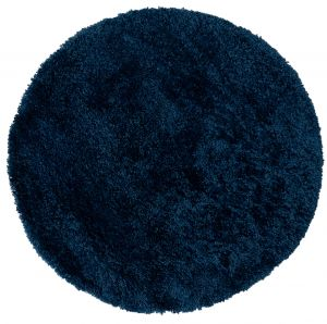 Brilliance Sparks Blue Circle Rug by Flair Rugs