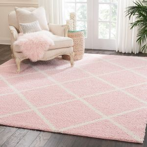 Brisbane BRI03 Blush Geometric Rug by Nourison