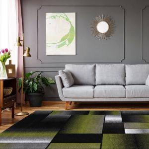 Broadway 300 Green Grey Rug by Kayoom