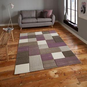 Think Rugs Brooklyn 646 Beige/Purple Rug