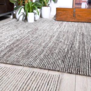 C333-580 Cream Talonga Rib Deluxe Wool Rug by Theko