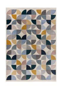 Cadiz Alcazar Geometric Grey Multi Rug by Flair Rugs