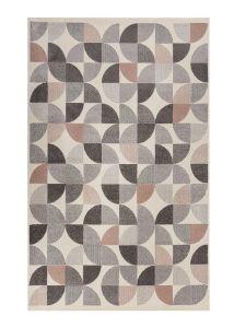 Cadiz Alcazar Geometric Grey Pink Rug by Flair Rugs