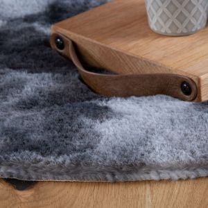 Camouflage CAM 915 Graphite Shaggy Circle Rug by Obsession