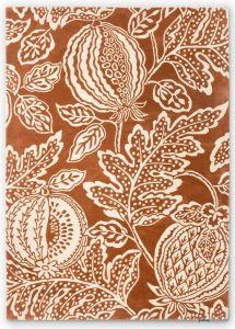 Cantaloupe 145203 Burnt Orange Wool Rug by Sanderson