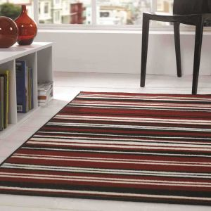 Element Prime Canterbury Red/Black Rug by Flair Rugs