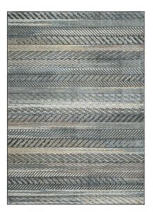 Canyon 052 - 0050 3535 Black Striped Contemporary Rug by Mastercraft