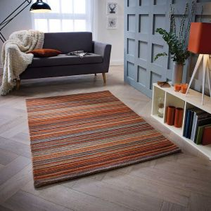 Carter Rust Wool Rug by Oriental Weavers
