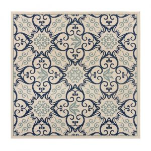 Castille Aragon Cream Navy Rug by Flair Rugs