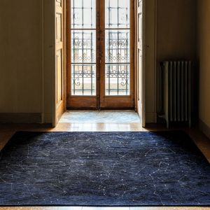Celestial Midnight Blue Designer Rug by Christian Fischbacher