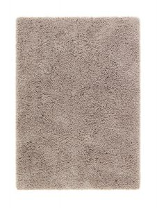 Chicago Taupe Shaggy Polyester Rug by Origins