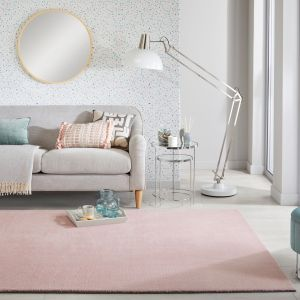 Cleo Blush Plain Rug by Flair Rugs