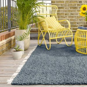 Clover Blue Hand Made Rug by Asiatic