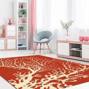 Coastal Living Coral Red Rug by Floorita