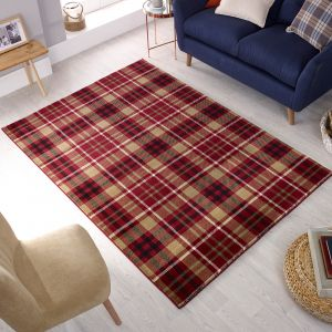 Cocktail Highland Red Rug by Flair Rugs