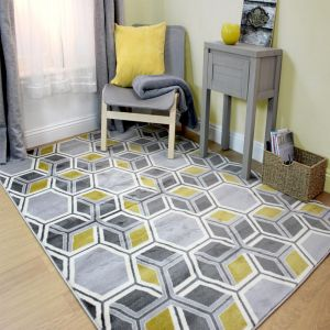 Cocktail Mimosa Grey/Ochre Rug by Flair Rugs