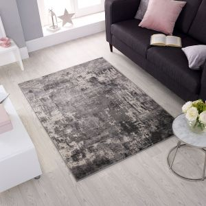 Cocktail Wonderlust Grey Abstract Rug by Flair Rugs