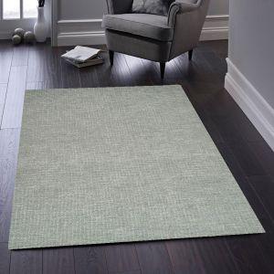 Country Tweed Paloma Grey Plain Wool Rug by Origins