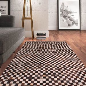 Cowhide Multi Wool Rug by Prestige