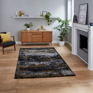 Craft 19788 Black Gold Rug by Think Rugs
