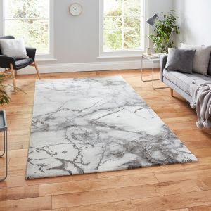 Craft 23270 Ivory Silver Abstract Rug by Think Rugs