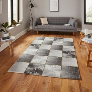 Craft 23495 Grey Gold Abstract Rug by Think Rugs