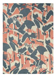 Cranes 57002 Pink Hand Tufted Wool Rug by Ted Baker