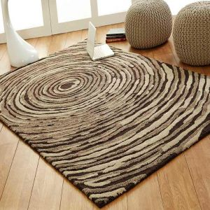 Cyclone Striped Unique Rug by Prestige