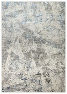 Dalia DAL01 Ivory Blue Abstract Rug by Concept Looms
