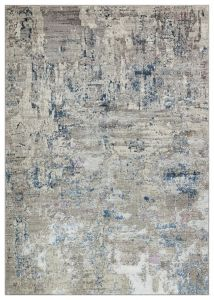 Dalia DAL02 Ivory Blue Abstract Rug by Concept Looms