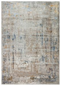 Dalia DAL06 Beige Blue Abstract Rug by Concept Looms